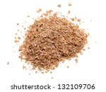 wheat bran isolated on white... | Shutterstock . vector #132109706