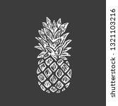 modern pineapple shape. exotic... | Shutterstock .eps vector #1321103216
