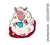 lucky sheep vector illustration ...   Shutterstock .eps vector #1321103726