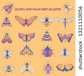 hand drawn insect bugs... | Shutterstock .eps vector #1321110056