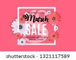 women's day  8 march sale... | Shutterstock .eps vector #1321117589