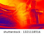 laboratory glassware and... | Shutterstock . vector #1321118516