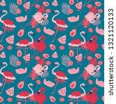 seamless flamingo pink seamless ... | Shutterstock .eps vector #1321120133