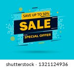 super sale and special offer.... | Shutterstock .eps vector #1321124936