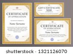 certificate template  gift... | Shutterstock .eps vector #1321126070