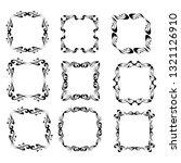 set of vector vintage frames on ... | Shutterstock .eps vector #1321126910