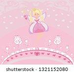 beautiful fairy with magic wand ... | Shutterstock . vector #1321152080