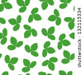 seamless leafs green pattern ... | Shutterstock .eps vector #132115334