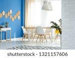 elegant blue and white dining... | Shutterstock . vector #1321157606