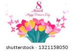 8 march. international happy... | Shutterstock .eps vector #1321158050