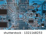 electronic components on modern ... | Shutterstock . vector #1321168253