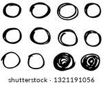 doodle vector circles. hand... | Shutterstock .eps vector #1321191056