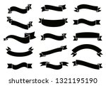 banners and ribbons set... | Shutterstock .eps vector #1321195190