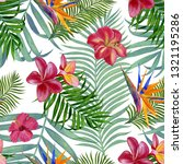 floral tropical seamless... | Shutterstock . vector #1321195286