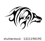 angry lion head | Shutterstock .eps vector #1321198190