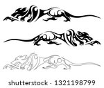 cunning rats abstract | Shutterstock .eps vector #1321198799