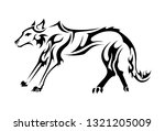wolf abstract tattoo | Shutterstock .eps vector #1321205009