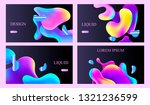 set of abstract templates for... | Shutterstock .eps vector #1321236599