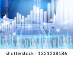 businessman on digital stock... | Shutterstock . vector #1321238186