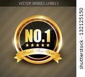 best quality no. 1 golden... | Shutterstock .eps vector #132125150