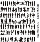 100 people | Shutterstock .eps vector #132125588