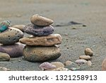 balance of wet volcanic rocks... | Shutterstock . vector #1321258913
