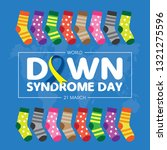 world down syndrome day on 21... | Shutterstock .eps vector #1321275596