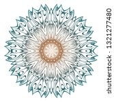 ornamental round lace. sacred... | Shutterstock .eps vector #1321277480