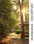 the bright sun shining through... | Shutterstock . vector #1321307183