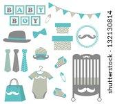 accessoire,bébé,bébé garçon,douche de bébé,sac,bannière,bleu,body,garçon,dessin animé,caractère,vêtements,couleur,coloré,décor