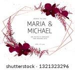 marsala colored dark exotic... | Shutterstock .eps vector #1321323296