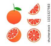 vector grapefruit. a whole... | Shutterstock .eps vector #1321327583