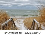 Winter Day At The Beach. Port...