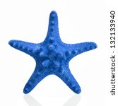 Blue Starfish Isolated On Whit...