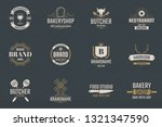 vintage retro vector logo for... | Shutterstock .eps vector #1321347590