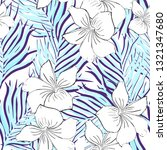 tropical seamless pattern. ... | Shutterstock . vector #1321347680