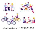 vector friends hanging out... | Shutterstock .eps vector #1321351850