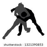 two mma fighters vector... | Shutterstock .eps vector #1321390853