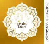 vector ramadan kareem card.... | Shutterstock .eps vector #1321393043
