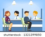bank office interior. financial ... | Shutterstock .eps vector #1321399850