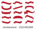 banners and ribbons set... | Shutterstock .eps vector #1321402283