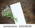 bouquet of baby's breath  or... | Shutterstock . vector #132140258