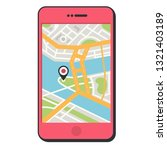 vector gps tracker icon phone... | Shutterstock .eps vector #1321403189