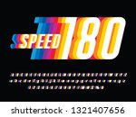 speed style colorful alphabet... | Shutterstock .eps vector #1321407656