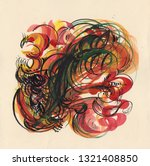 russian folk style colorful...   Shutterstock . vector #1321408850