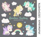 pretty and cute unicorn...   Shutterstock .eps vector #1321414076