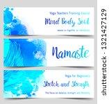 yoga card design. colorful...   Shutterstock .eps vector #1321427129