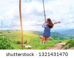 woman tourist  was playing... | Shutterstock . vector #1321431470