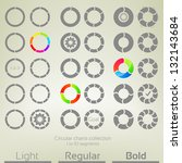 round graph circular charts ... | Shutterstock .eps vector #132143684
