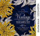vintage floral printable... | Shutterstock .eps vector #132143954